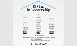 Ethics In Leadership
