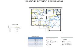 Plano electrico domiciliario
