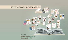 HISTORIA DE LA FARMACOGIA