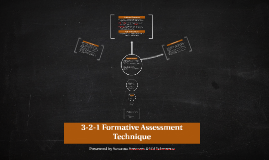 3-2-1 Formative Assessment Technique