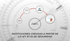 INSTITUCIONES CREADAS A PARTIR DE LA LEY 87-01 DE SEGURIDAD