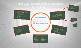 Copy of Unit 226 - People Skills in Sport and Active Leisure