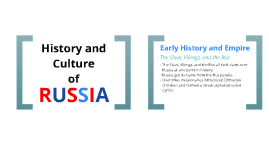 History and Culture of Russia
