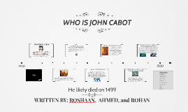 Who is John Cabot ?