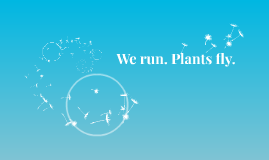 We run. Plants fly.
