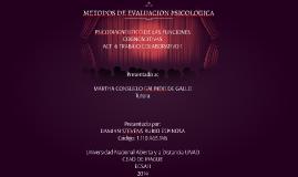 METODOS DE EVALUACION PSICOLOGICA