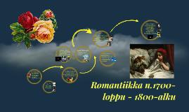 Romantiikka 1700-loppu - 1800 alku