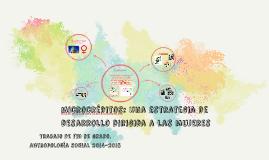 microcréditos: una estrategia de desarrollo dirigida a las m