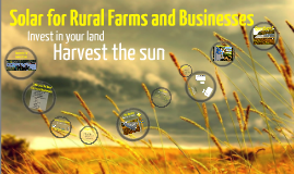 Solar for Rural Farms and Businesses