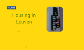 Housing in Leuven