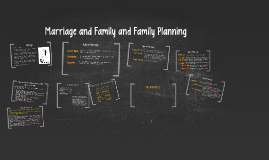 Marriage and Family and Family Planning