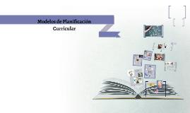 Copy of Modelos de Planificación Curricular