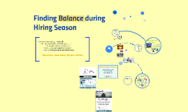 Finding the balance in job search