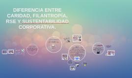 Diferencia entre caridad, filantropía, RSE y sustentabilidad