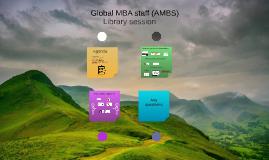 Global MBA staff (AMBS)