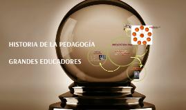 HISTORIA DE LA PEDAGOGIA