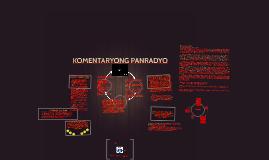 KOMENTARYONG PANRADYO AT DOKUMENTARYONG PANTELEBISYON