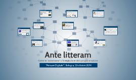 Ante Litteram