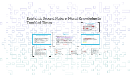 Epistemic Second Nature: Moral Knowledge In Troubled Times