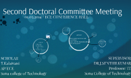 SECOND DOCTORAL COMMITTEE MEETING