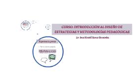 Introducción al diseño de estrategias y metodologías pedagógicas