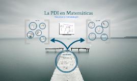 La PDI en Matemáticas