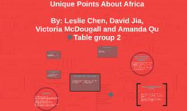 Unique Points About Africa