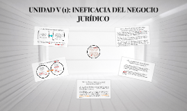 III. INVALIDEZ E INEFICACIA DEL NEGOCIO JURÍDICO