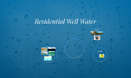 Residential well water