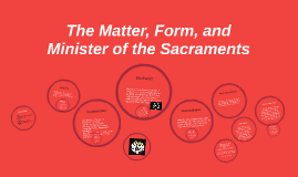 Copy of Matter, Form, and Minister: The Sacraments