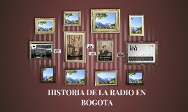 HISTORIA DE LA RADIO EN BOGOTA