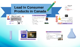 Lead In Consumer Products in Canada