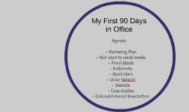 My First 90 Days