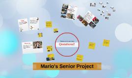 Mario's Senior Project