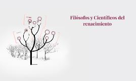 Filósofos y Científicos del renacimiento
