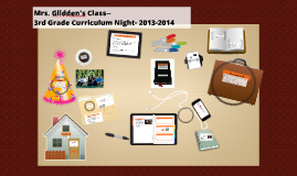 Copy of Brenda Glidden 3rd Grade Curriculum Night