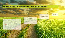 Copy of Sentence Structure in Of Mice and Men