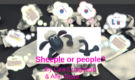 Sheeple or people?