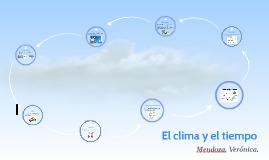 El clima y el tiempo