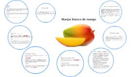 Manjar blanco de mango