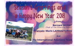 Season's Greetings and a Happy New Year 2018
