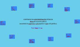 Controle da Administração Pública- Meios de controle judicial (mandado de segurança, ação popular e ação civil pública)