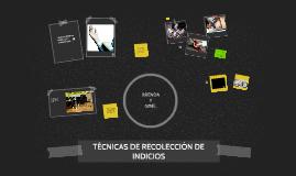 TECNICAS DE RECOLECCIÓN DE INDICIOS