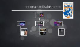 nationale taptoe