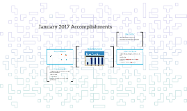 January 2017 Accomplishments