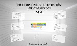 PROCEDIMIENTOS DE OPERACIÓN ESTANDAR