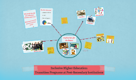 Inclusive Higher Education: Transition Programs at Post-Seco