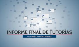 INFORME FINAL DE TUTORÍAS
