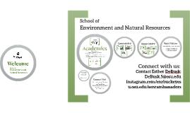 SENR Academic Overview Autumn 17