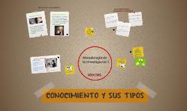 Copy of CONOCIMIENTO Y SUS TIPOS